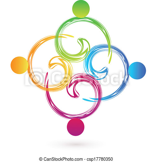 swirly, ロゴ, ベクトル, チームワーク, swoosh - csp17780350