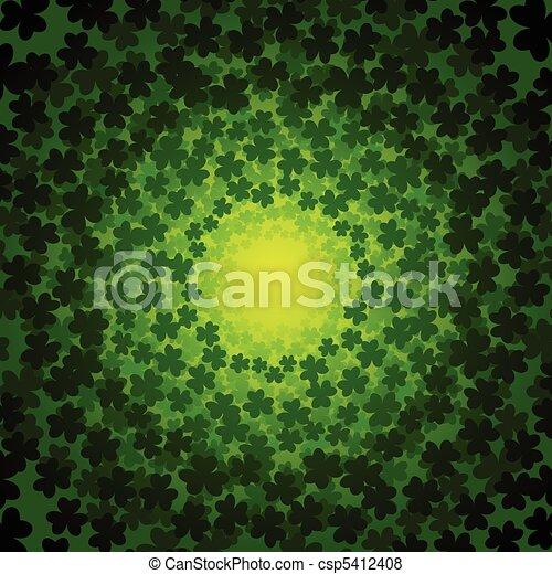 Swirly clover background - csp5412408