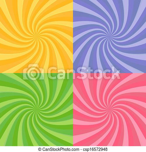 swirly, ensemble, sunbursts - csp16572948