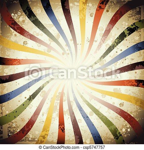 swirly, grunge, sunburst - csp5747757