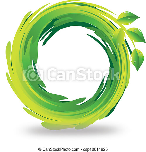 Swirly leafs logo - csp10814925