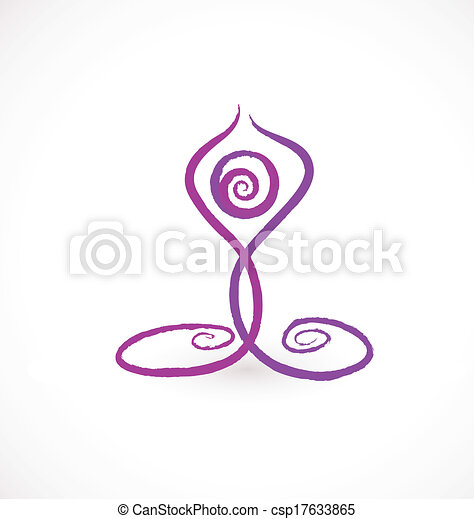 swirly, logo, pose, yoga - csp17633865