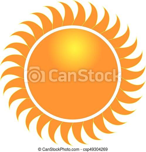 swirly, zonnestralen, pictogram, logo - csp49304269