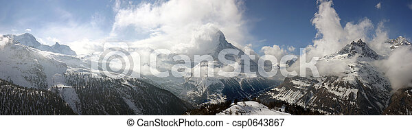 Swiss alpine panorama - csp0643867