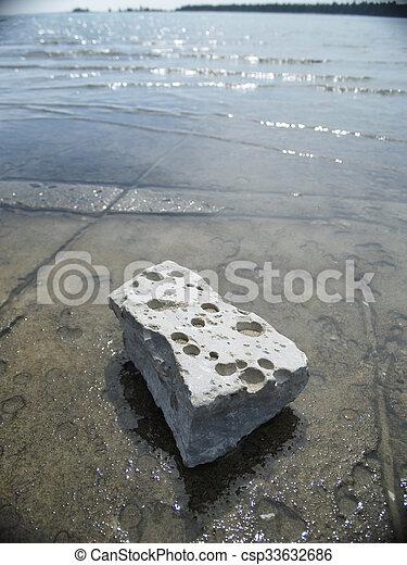 Swiss Cheese Rock - csp33632686