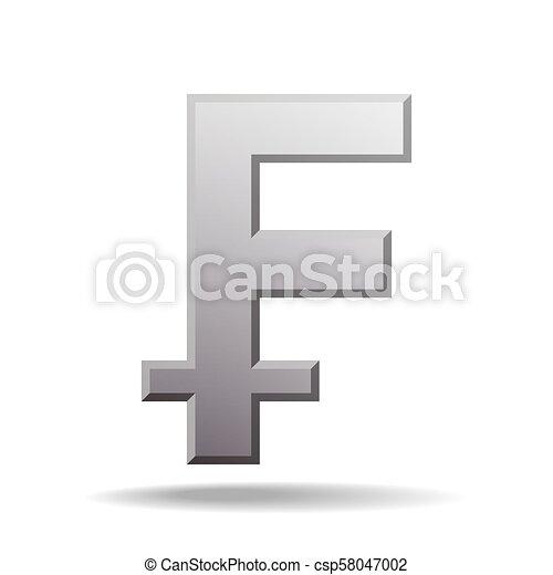 Swiss Franc Currency Symbol Switzerland Sign Vector Illustration
