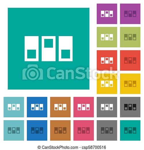 Switchboard Square Flat Multi Colored Icons Switchboard Multi Colored Flat Icons On Plain Square Backgrounds Included White