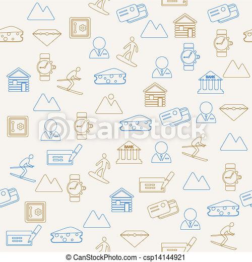 Switzerland seamless pattern - csp14144921