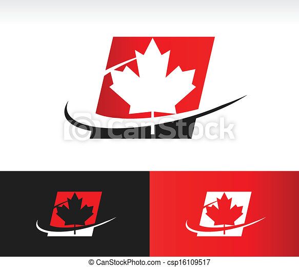Swoosh Canada Maple Leaf Icon - csp16109517