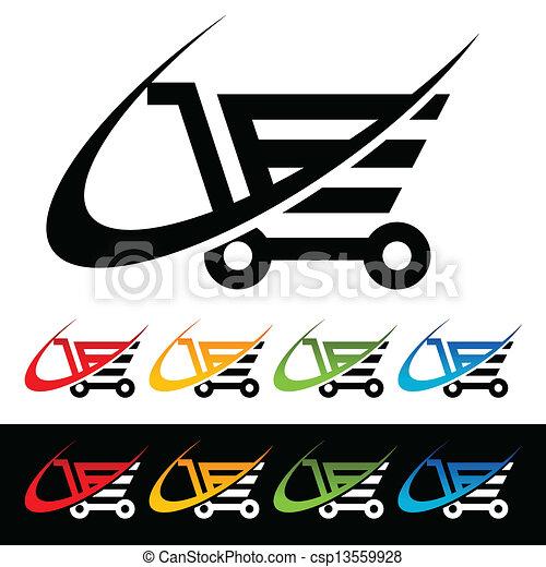 Swoosh Shopping Cart Icons - csp13559928