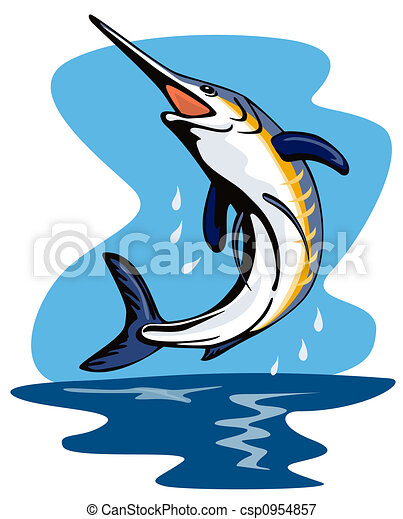 Swordfish jumping - csp0954857