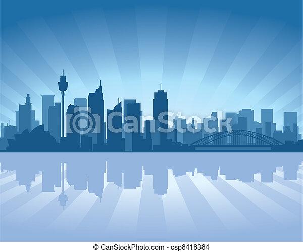 Sydney, Australia skyline - csp8418384