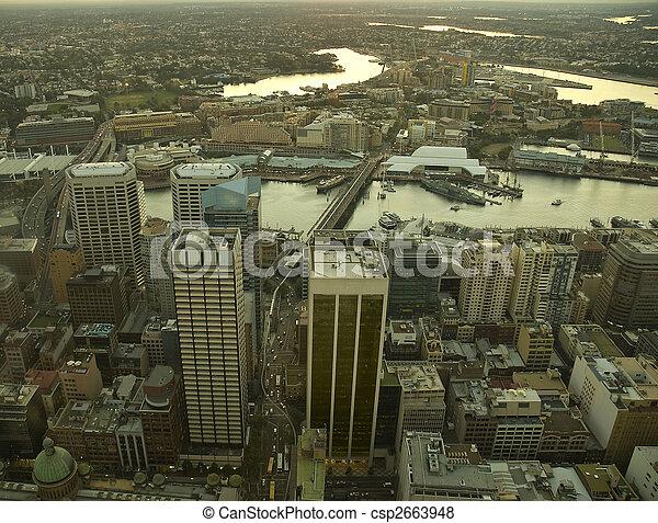 Sydney CBD at sunset - csp2663948