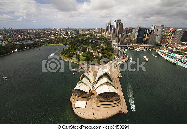 Sydney city from the air - csp8450294