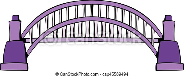 Sydney Harbour Bridge icon cartoon - csp45589494