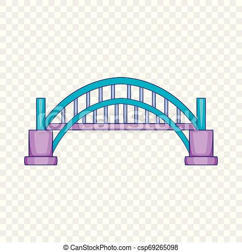 Sydney Harbour bridge icon, cartoon style - csp69265098