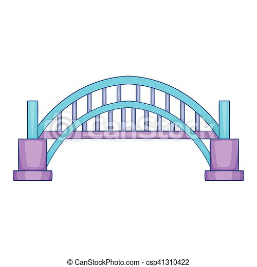 Sydney Harbour bridge icon, cartoon style - csp41310422