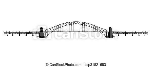 Sydney Harbour Bridge Silhouette - csp31821683