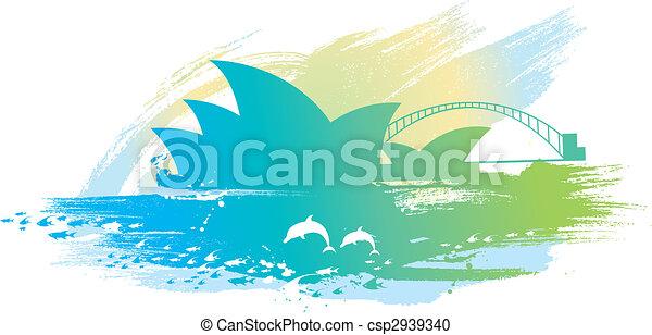 sydney opera scenery - csp2939340