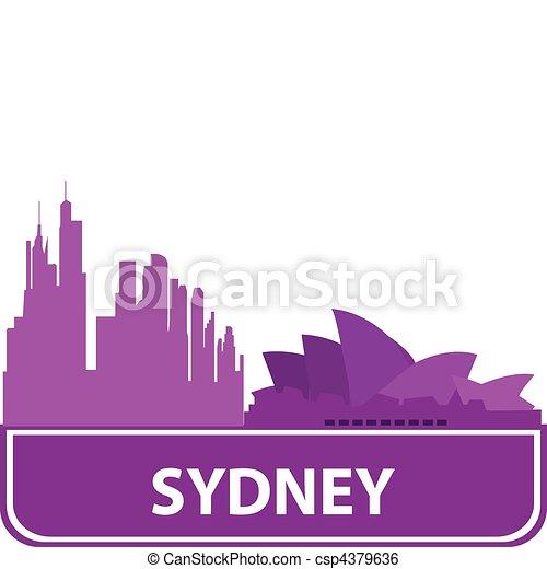 Sydney outline - csp4379636