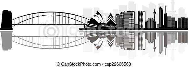 Sydney skyline - csp22666560
