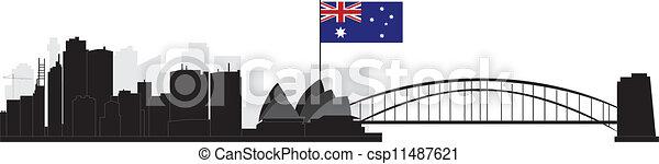 Sydney skyline - csp11487621