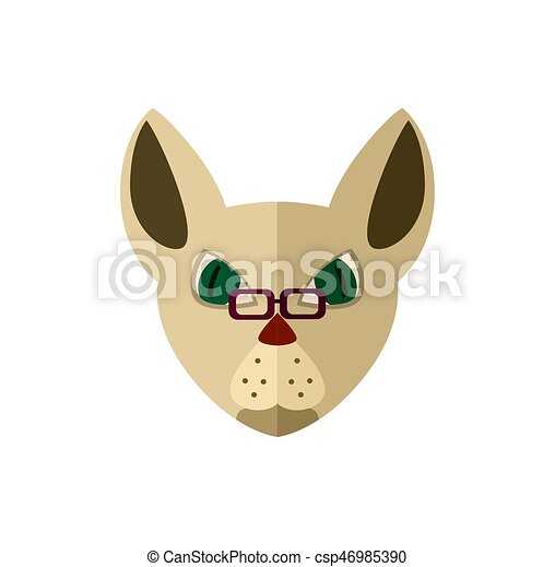 Syjamski Głowa Ikona Okulary Kot