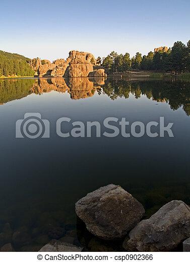 Sylvan Lake Daybreak - csp0902366