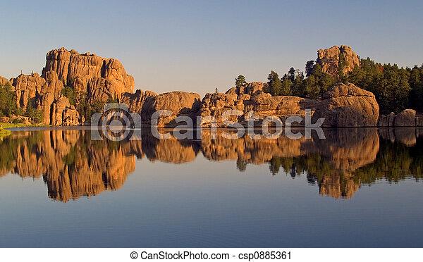 Sylvan Lake Reflection - csp0885361