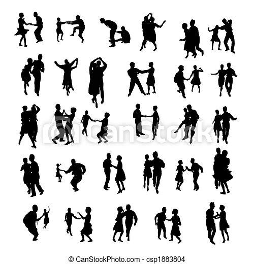 sylwetka, odizolowany, taniec - csp1883804