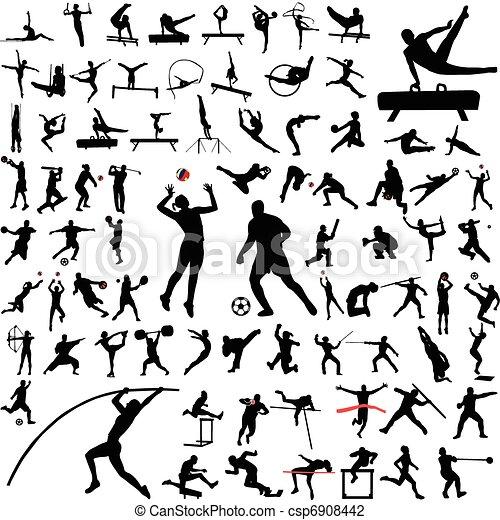 sylwetka, sport, zbiór - csp6908442