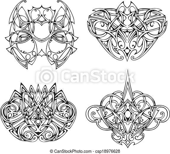 symétrique, conceptions, noeud, tatouage - csp18976628
