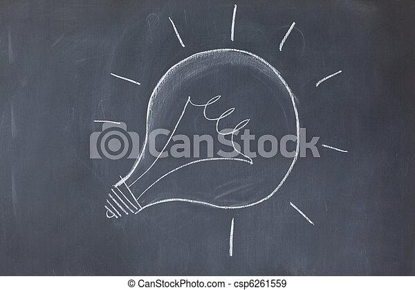 Ligero dibujado en una pizarra - csp6261559