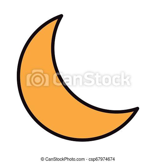 Symbol ćwierć Księżyc Graficzny Symbol Ilustracja Księżyc Wektor Projektować ćwierć Canstock