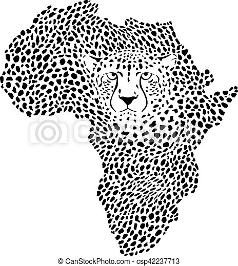 Symbol Africa in cheetah camouflage.eps - csp42237713