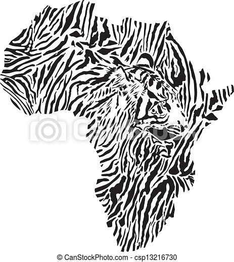 symbol Africa in Tiger camouflage - csp13216730