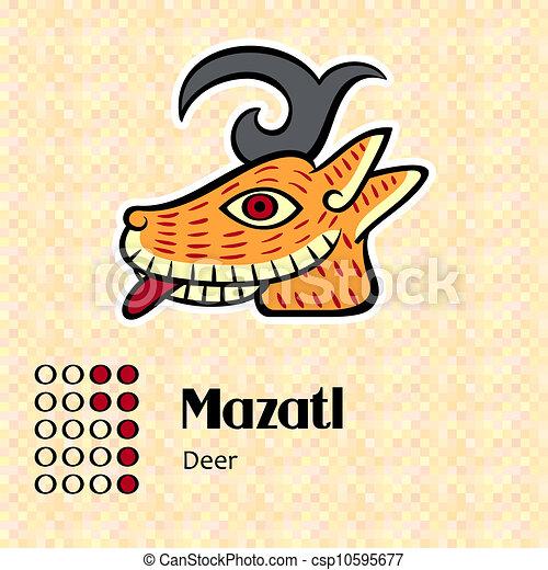 symbol, aztekisk, mazatl - csp10595677