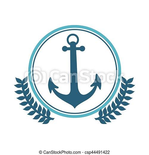 Symbol Blue Anchor Icon