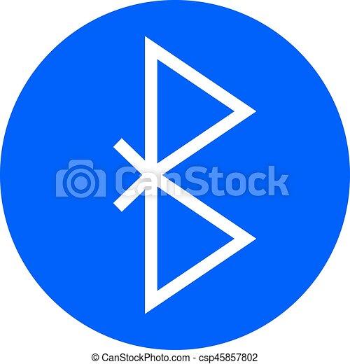 Symbol, bluetooth, drahtloser anschluß, vektor, icon.,... Vektor ...