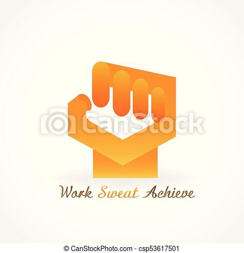 Symbol, boxen, widerstand, hand, vektor, sport, bild. Macht, symbol ...