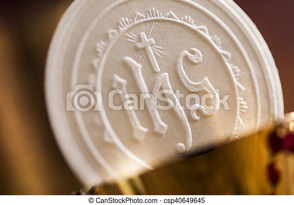 Symbol christianity religion, communion background - csp40649645