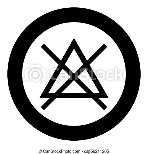 Symbol Do Not Bleach Icon Black Color In Circle Vector Illustration