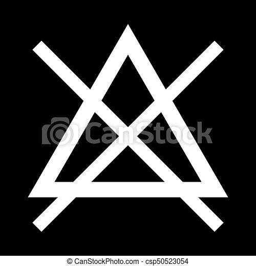 Symbol Do Not Bleach It Is Icon Flat Style
