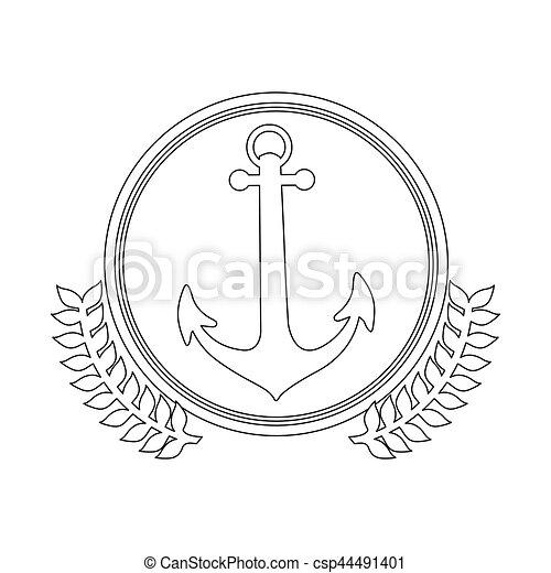 symbol figure anchor icon - csp44491401