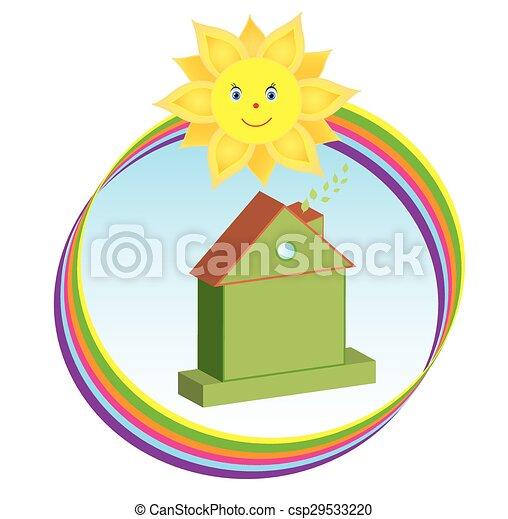 Symbol for eco theme - csp29533220