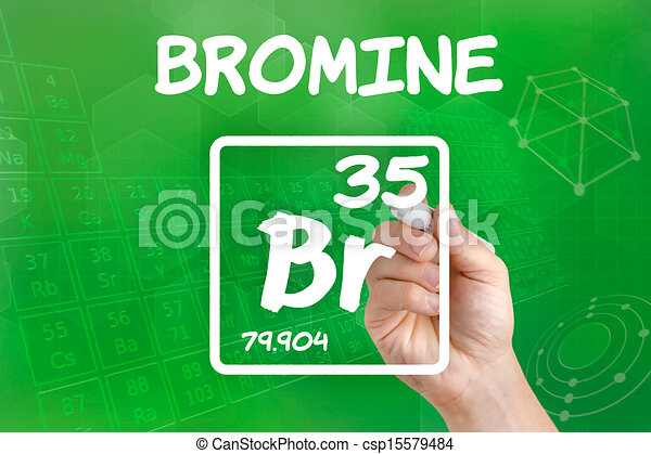 Symbol For The Chemical Element Bromine