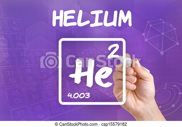 Symbol For The Chemical Element Helium