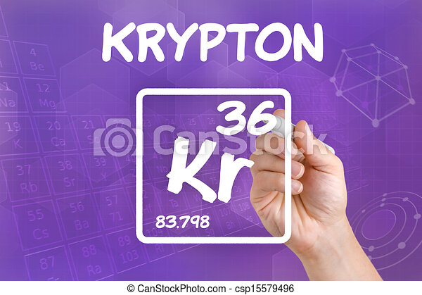 Symbol For The Chemical Element Krypton