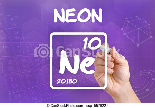 Symbol For The Chemical Element Neon Clip Art Search Illustration