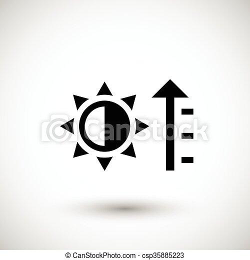 Symbol, heizung, ikone. Freigestellt, abbildung, heizung,... Vektor ...